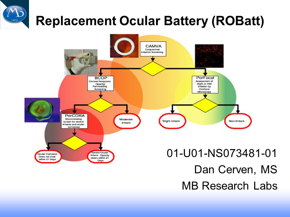 PorCORA – Porcine Cornea Opacity and Reversibility Assay Severe Ocular Irritation vs.