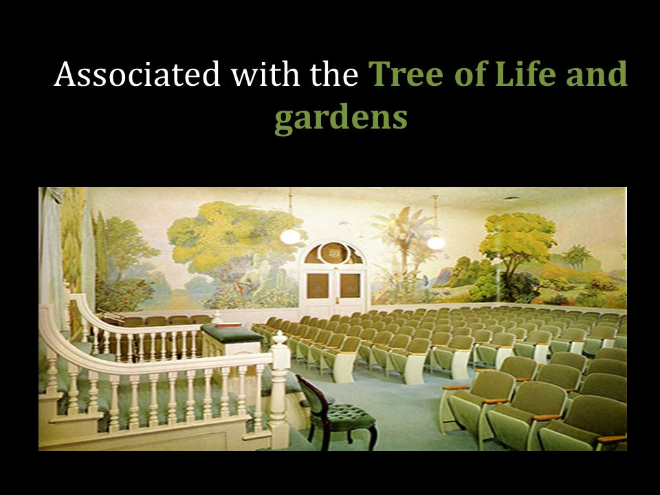 Associated with the Tree of Life and gardens