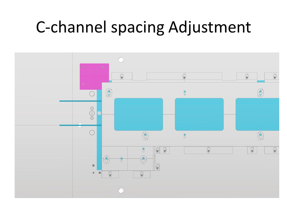 C-channel spacing Adjustment
