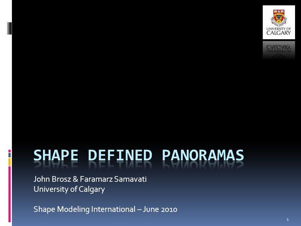 John Brosz & Faramarz Samavati University of Calgary Shape Modeling International – June 2010 1