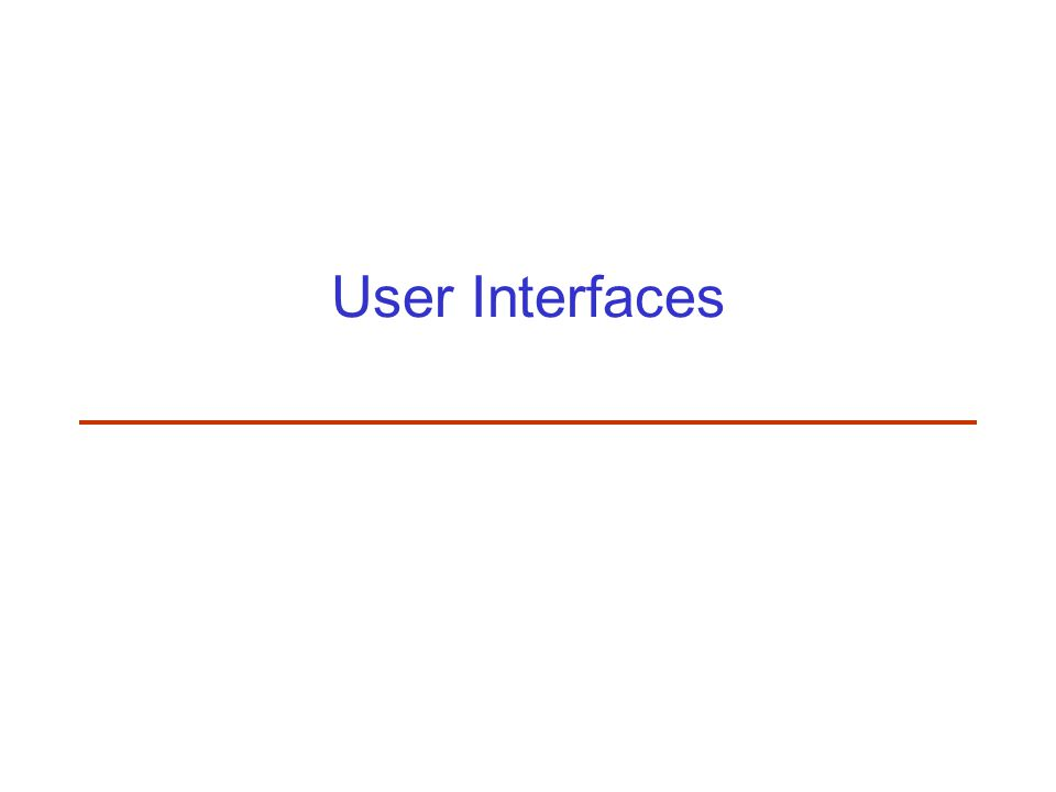 Interfaces for Users with Visual Handicaps Employ larger and regular fonts (no italic font) Certain kinds of fonts such as Arial or Helvetica that use a proportionally spaced sans serif are easier to read Non-justified text is easier to track down a page than justified NIH SeniorHealth: large print with short, easy to read segments of information together with a spoken word alternative version Careful color selection (and monochrome version) Electronic magnifier program Pure text version