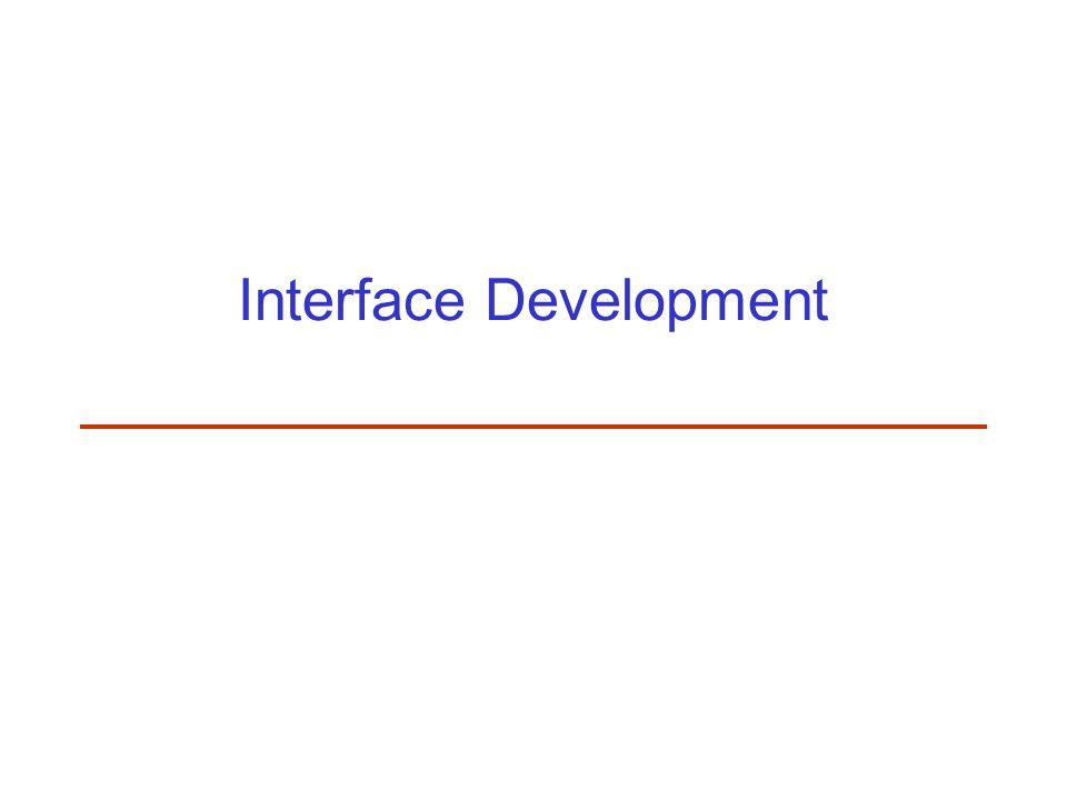 Interface Development