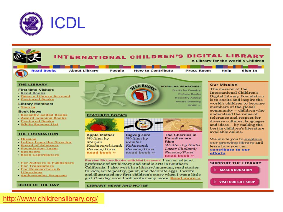 ICDL http://www.childrenslibrary.org/