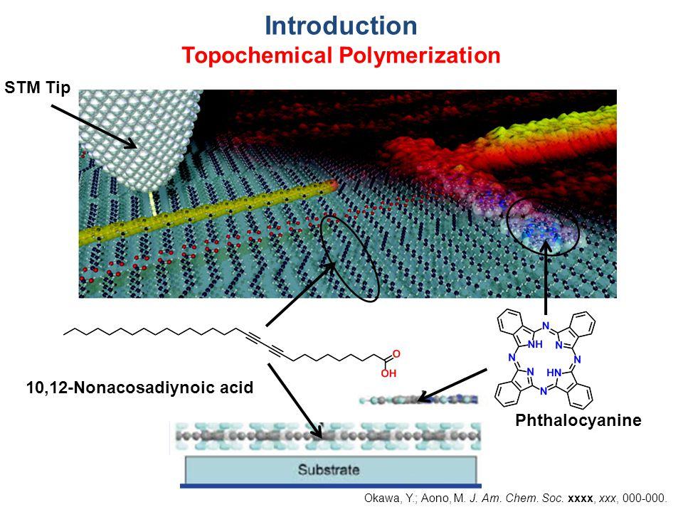 Introduction Topochemical Polymerization 10,12-Nonacosadiynoic acid Phthalocyanine STM Tip Okawa, Y.; Aono, M.