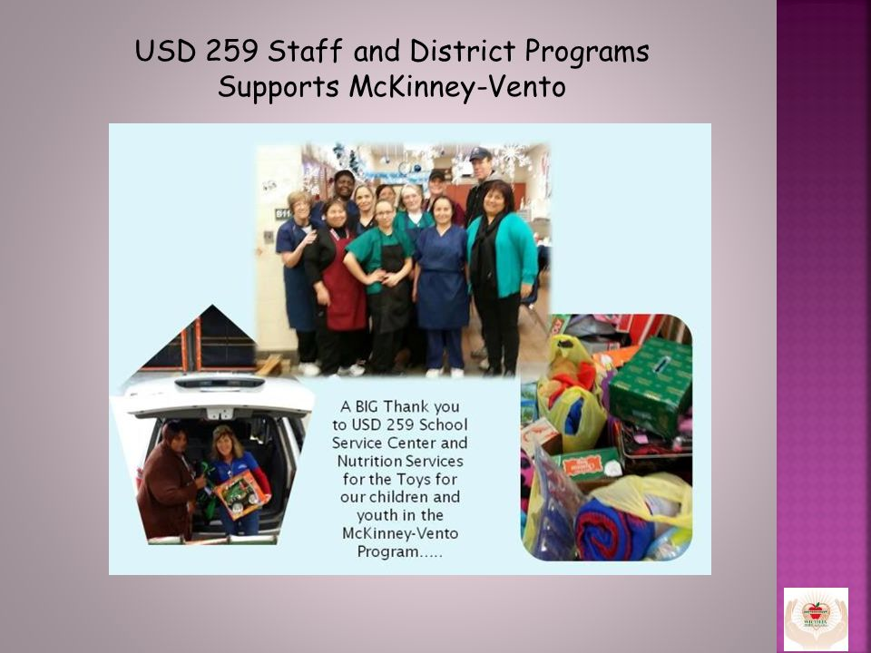USD 259 Staff and District Programs Supports McKinney-Vento