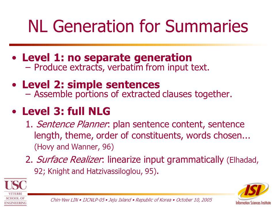 Summary Generation