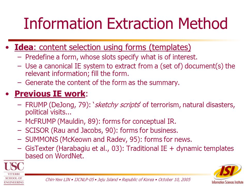 Text Summarization Information Extraction-Based