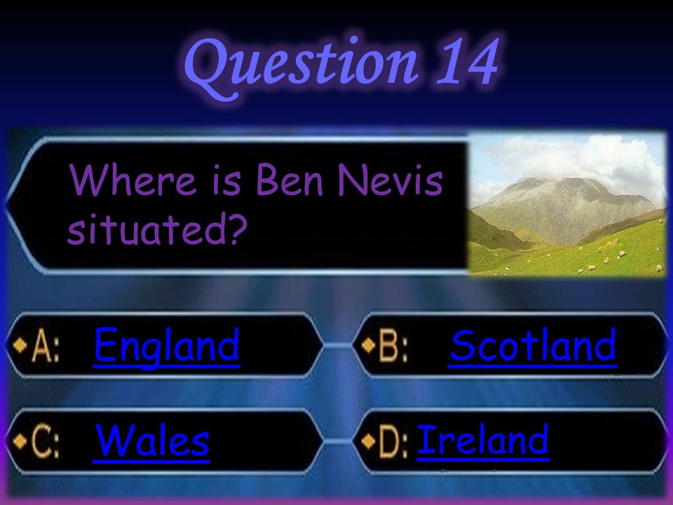 Where is Ben Nevis situated? England Wales Scotland Ireland