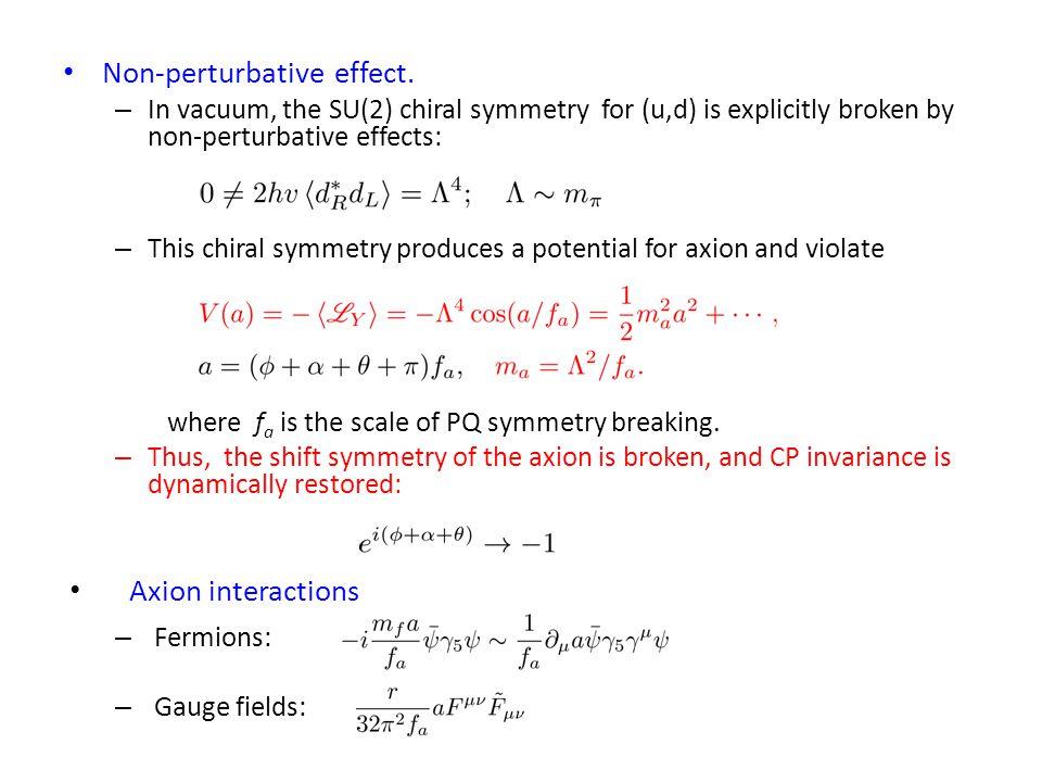 Non-perturbative effect.