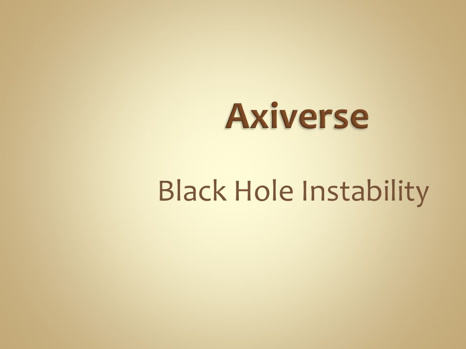 Black Hole Instability