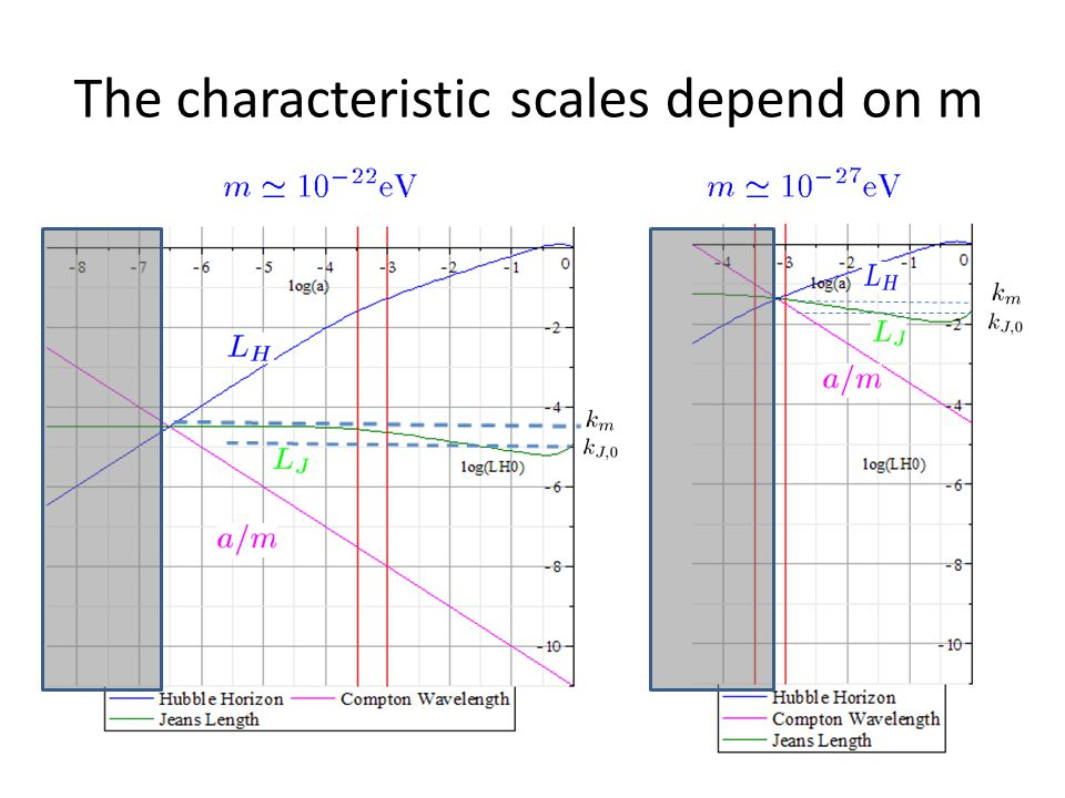 The characteristic scales depend on m