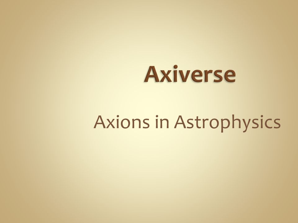 Axions in Astrophysics