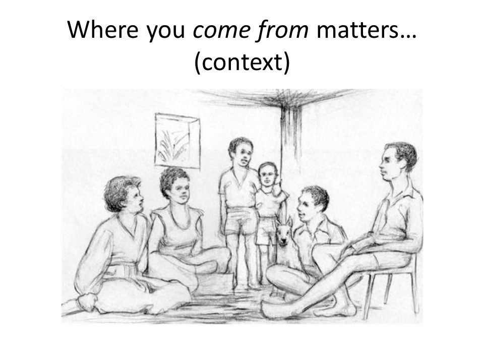 Where you come from matters… (context)
