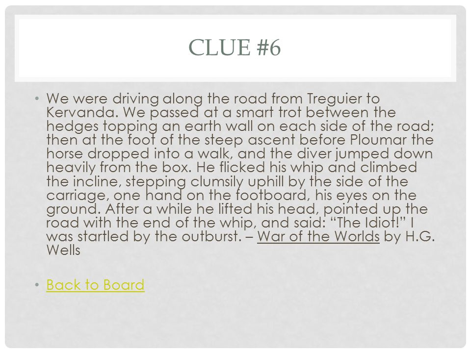 CLUE #7 On the first day of school, Victor stood in line half and hour before he came to a wobbly card table.