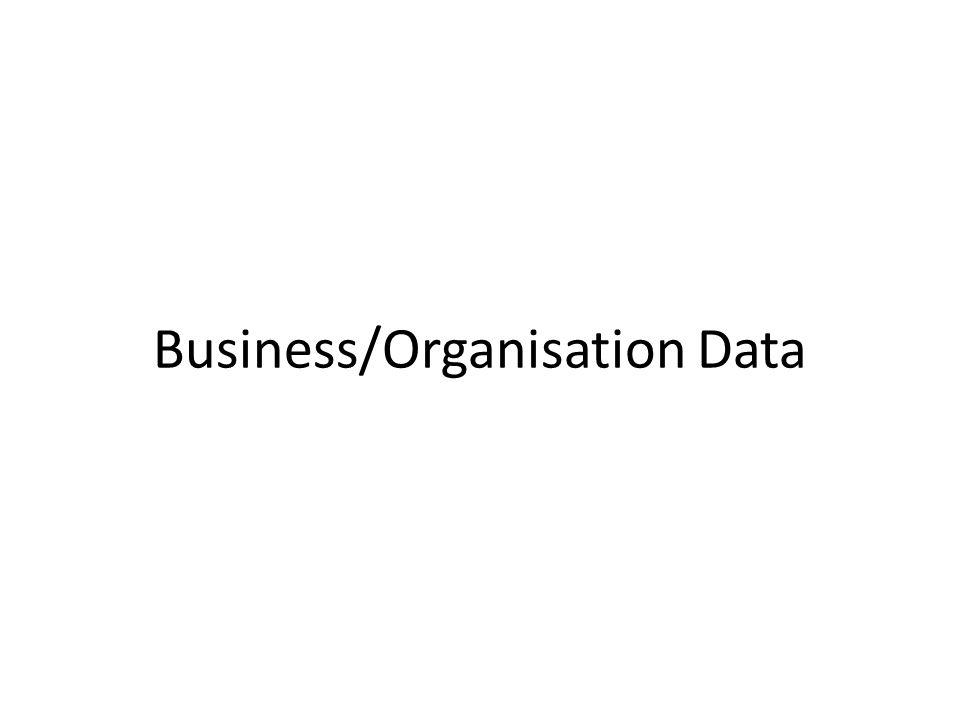 Business/Organisation Data