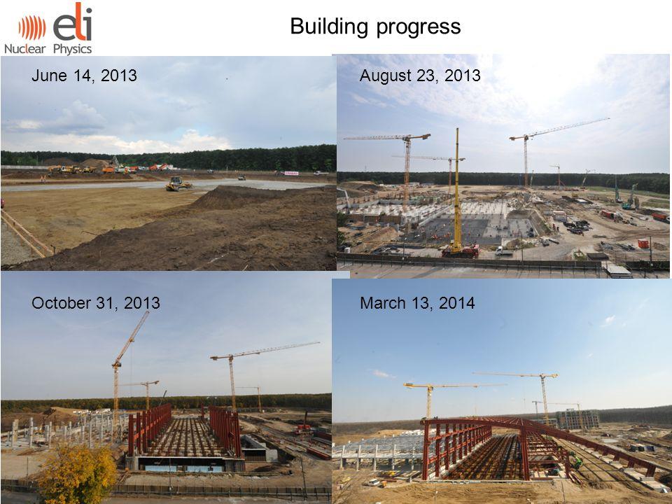 August 23, 2013 June 14, 2013 October 31, 2013March 13, 2014 Building progress