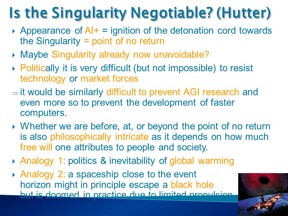 Singularity Course Is the Singularity Negotiable.