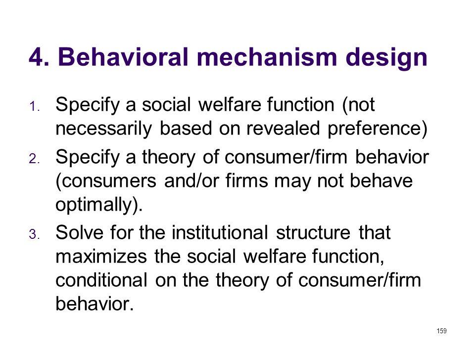 159 4. Behavioral mechanism design 1.