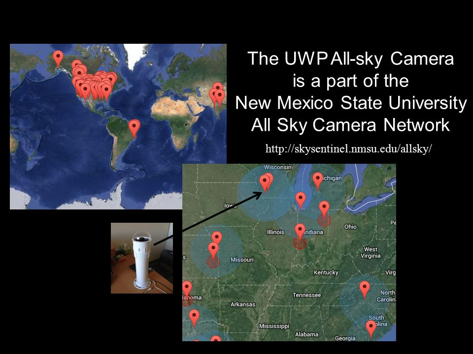 http://skysentinel.nmsu.edu/allsky/ The UWP All-sky Camera is a part of the New Mexico State University All Sky Camera Network
