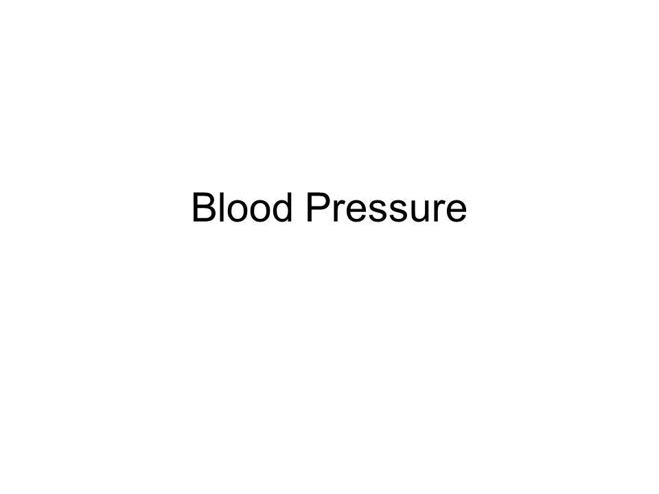 Circulation Two systems –Pulmonary (low pressure) –Systemic (high pressure) Aorta 120 mmHg Large arteries 110 mmHg Arterioles 40 mmHg Arteriolar capillaries 30 mmHg Venous capillaries 18 mmHg Venules 16 mmHg Muscular Veins 12 mmHg Central Veins 7 mmHg Right atrium -5 mmHg