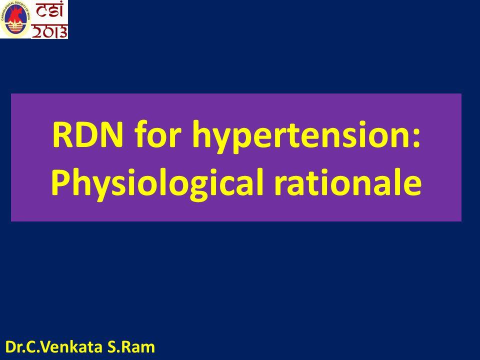 RDN for hypertension: Physiological rationale Dr.C.Venkata S.Ram