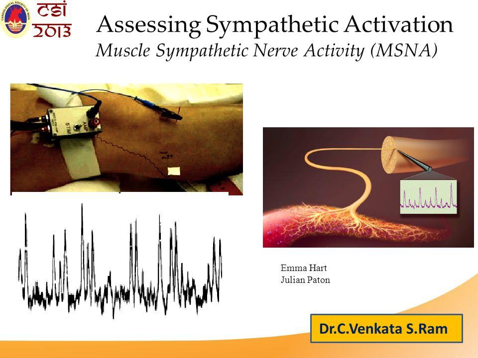 Assessing Sympathetic Activation Muscle Sympathetic Nerve Activity (MSNA) Emma Hart Julian Paton Dr.C.Venkata S.Ram