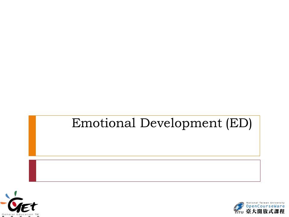 Emotional Development (ED)