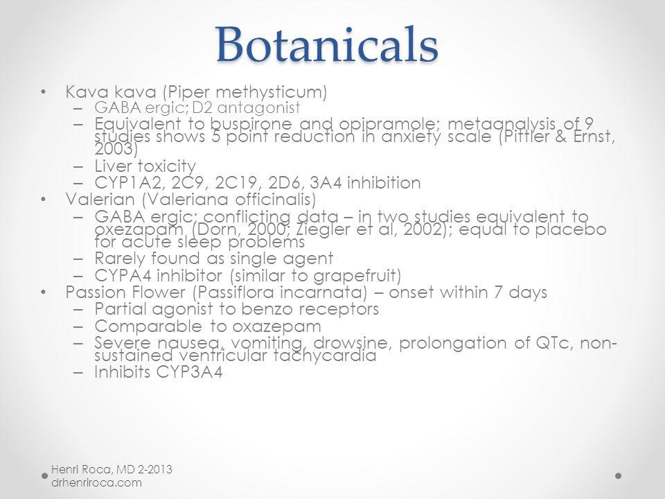 Botanicals MJA 2004;181:S29-S46 Botanicals MJA 2004;181:S29-S46 St. John's Wort: used in treatment of anxiety, depression, seasonal affective disorder
