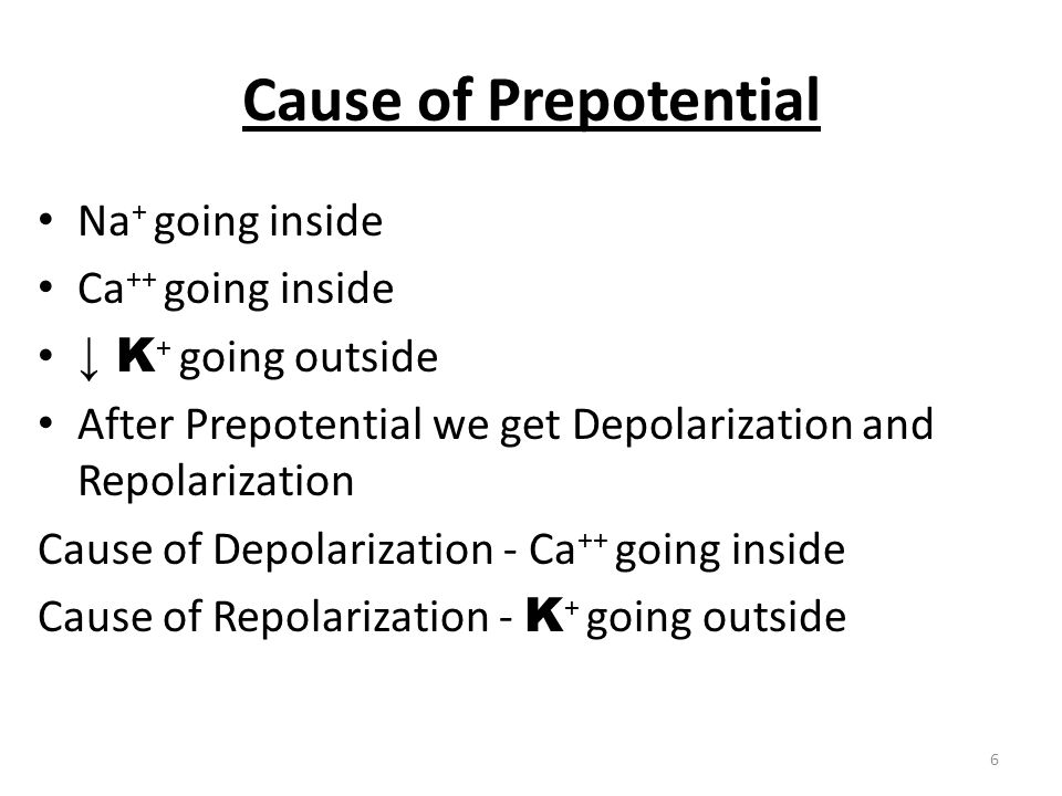 S A NODE POTENTIAL 7 PHASE 4 = Prepotential PHASE 0 = Depolarization PHASE 3 = Repolarization
