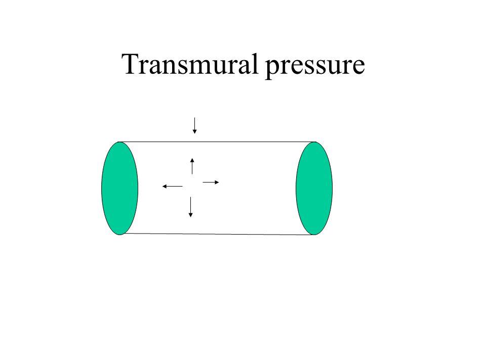 Transmural pressure PiPi PoPo P t = P i -P o