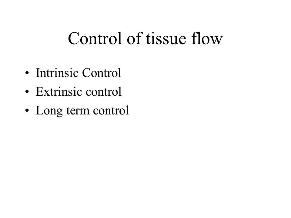 Control of tissue flow Intrinsic Control Extrinsic control Long term control