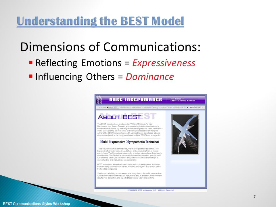 8 High Low Feelers Expressiveness Thinkers BEST Communications Styles Workshop