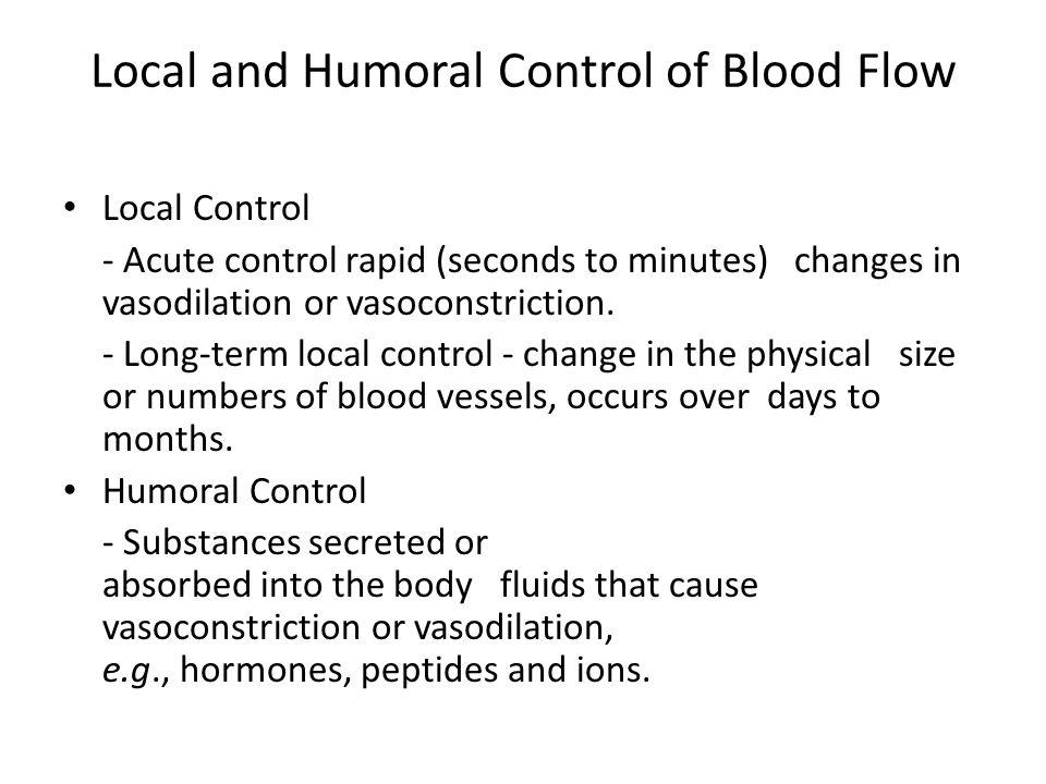 Relationship Between Metabolism and Blood Flow