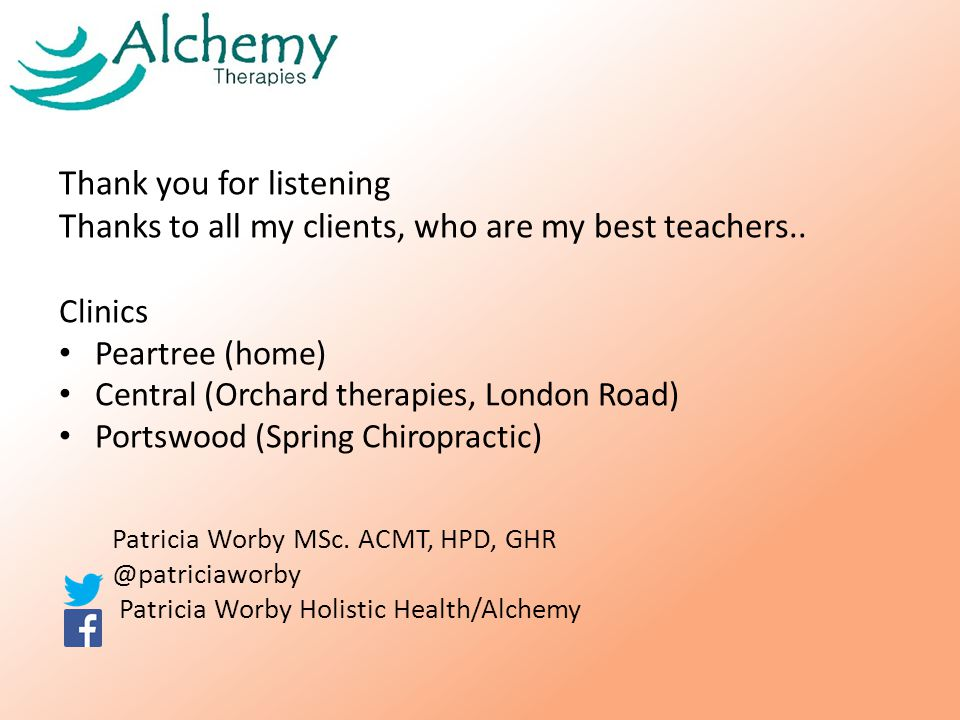 Thank you for listening Thanks to all my clients, who are my best teachers..