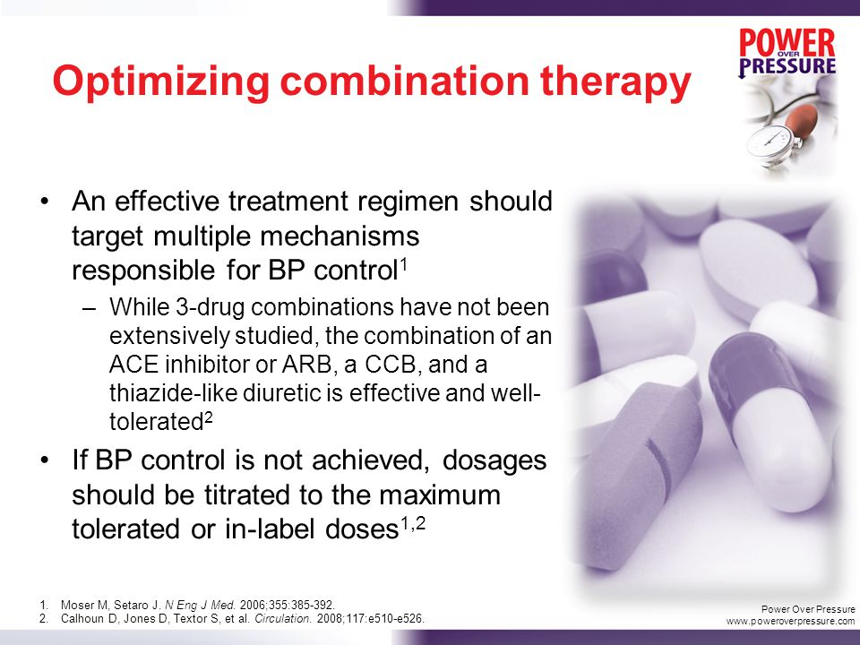 Spironolactone Design: Uncontrolled extension of the ASCOT trial Patients who did not achieve BP control on their assigned 3-drug regimen had additional agents added at investigator's discretion Population: 1411 patients prescribed spironolactone for HTN in addition to their trial-assigned regimen Treatment: spironolactone 25 mg once daily (median dose) Results: With the addition of spironolactone, mean BP fell by 21.9/9.5 mm Hg (P<0.001).