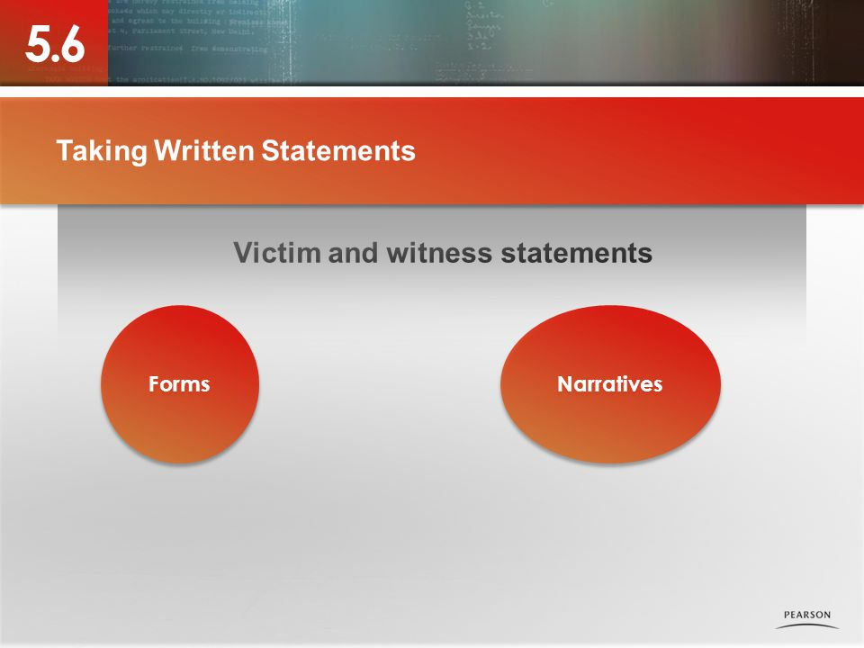 Taking Written Statements Narratives Forms