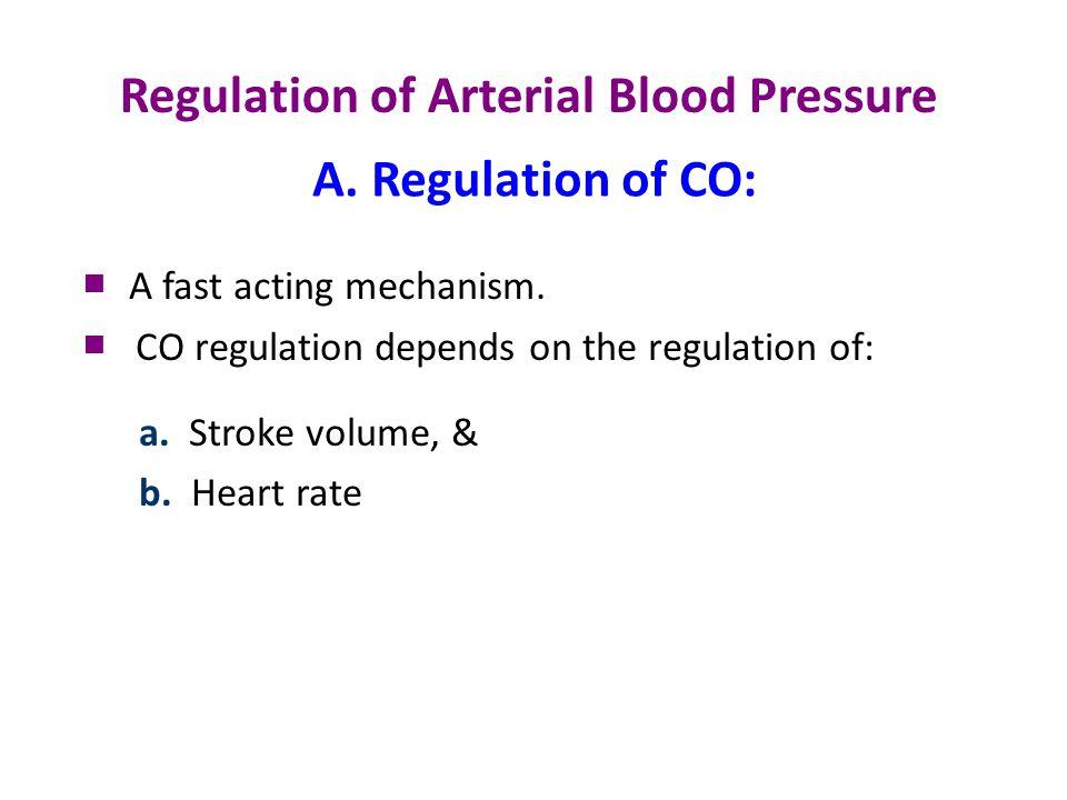 Mean arterial pressure Cardiac output = Stroke volume X Heart rate End Contraction diastolic strength volume (EDV) Stretch Sympathetic n Parasympathetic n Frank - Starling A.