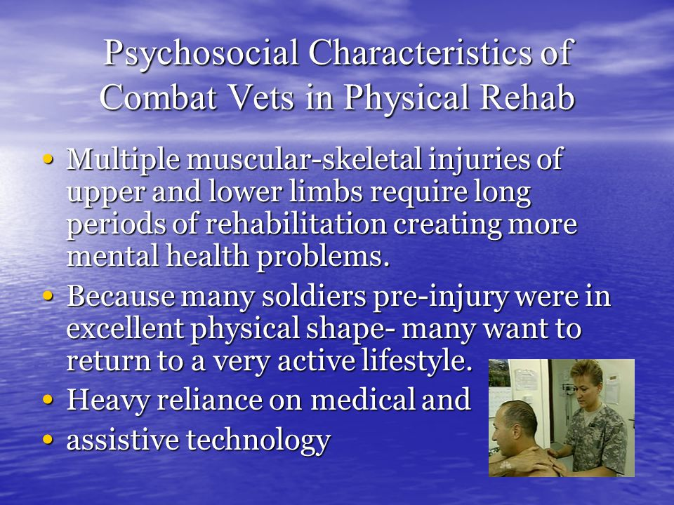 More Problems 26-39% met positive screen for PTSD (gen.