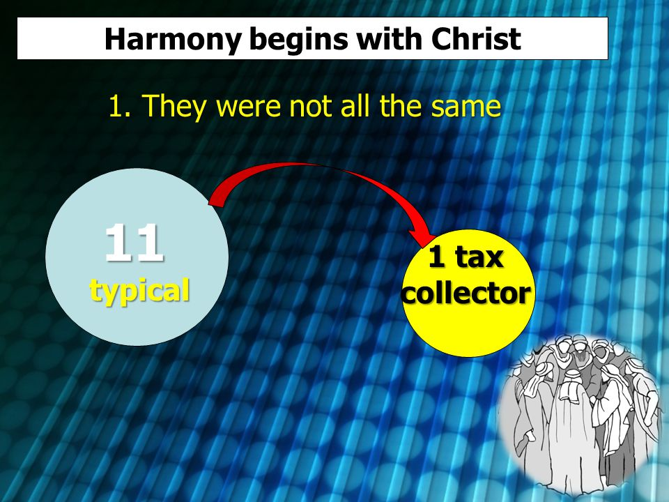 Harmony begins with Christ 1.
