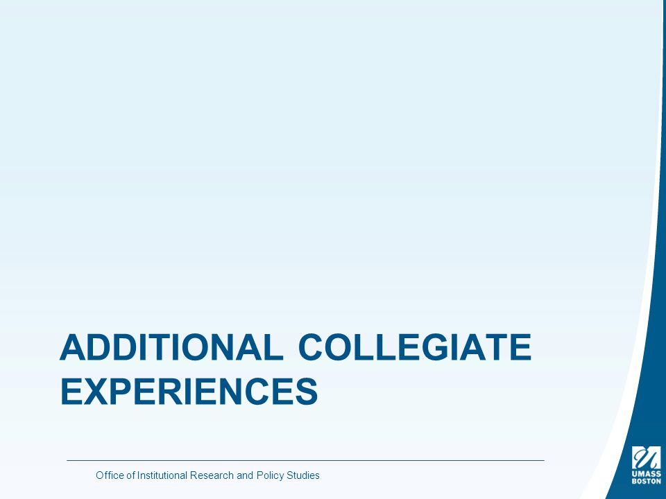 ADDITIONAL COLLEGIATE EXPERIENCES Office of Institutional Research and Policy Studies