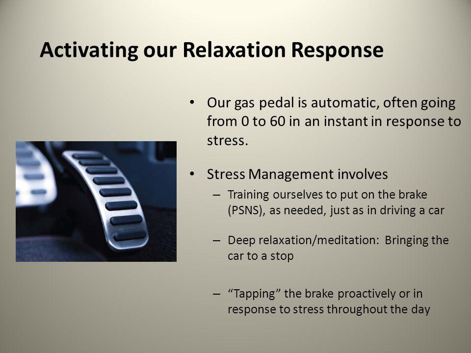 Additional Stress Management Skills / Tips