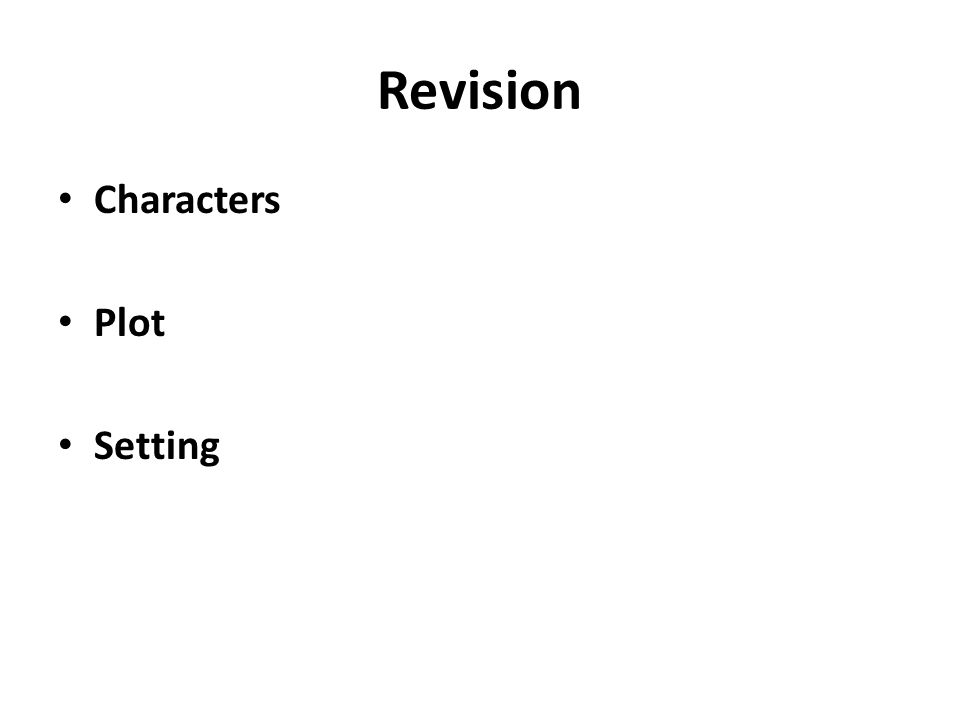 Revision Characters Plot Setting