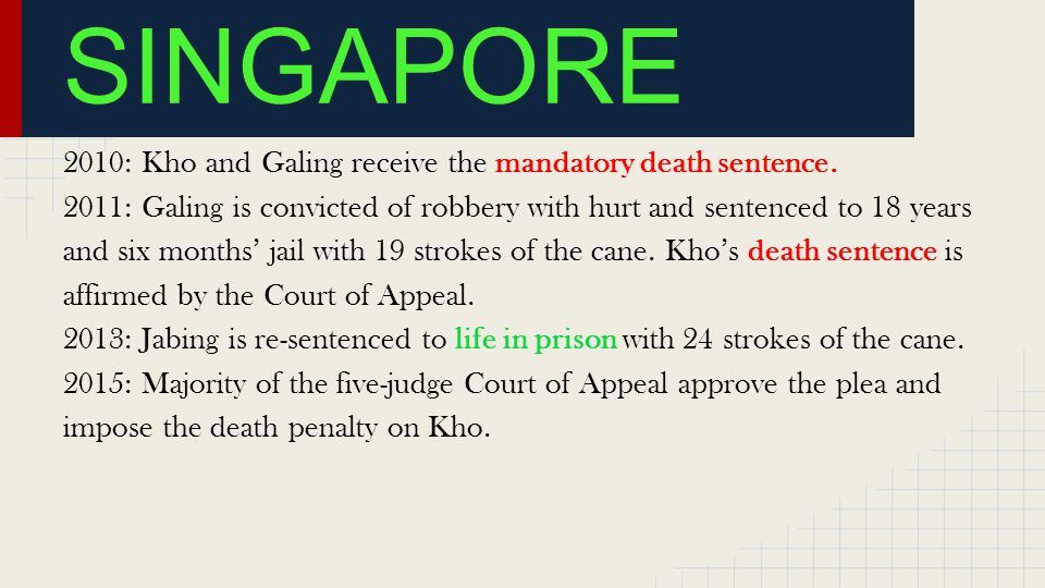 2010: Kho and Galing receive the mandatory death sentence.