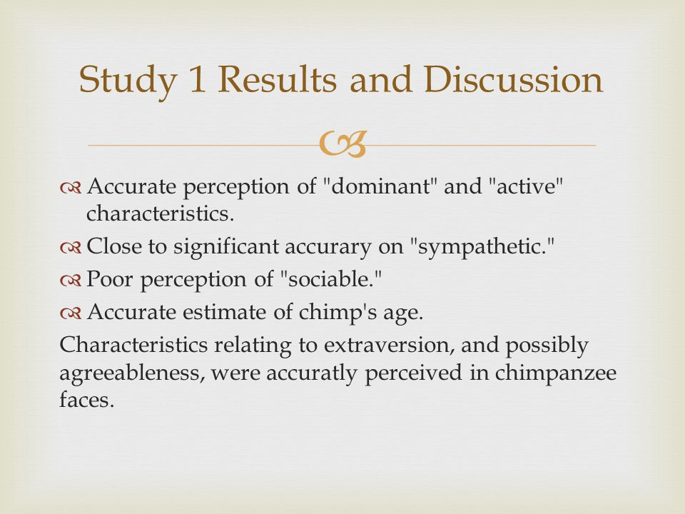   Culture and/or personality of participant may affect participant performance.