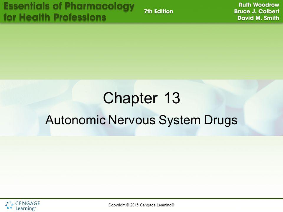 Copyright © 2015 Cengage Learning® Chapter 13 Autonomic Nervous System Drugs
