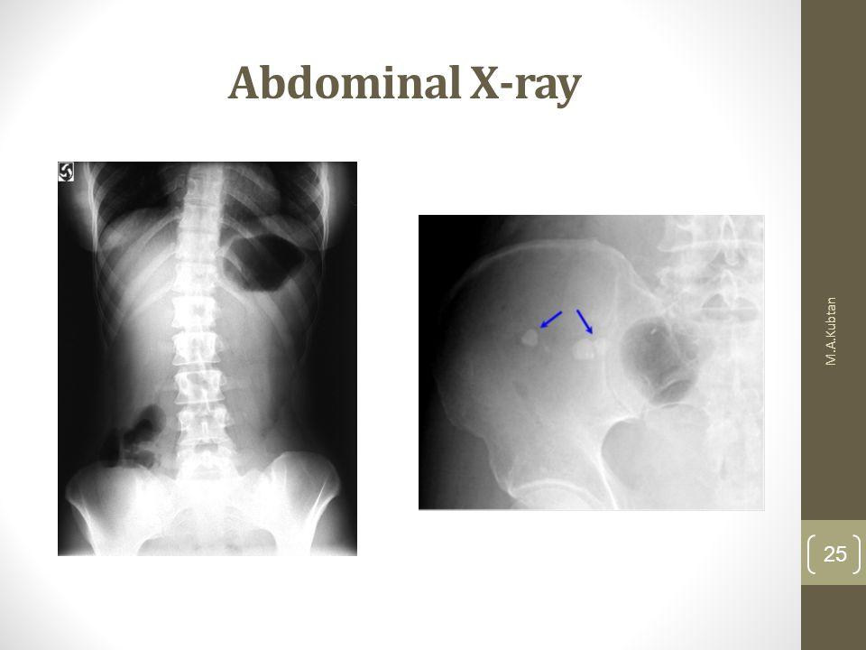 Abdominal X-ray M.A.Kubtan 25