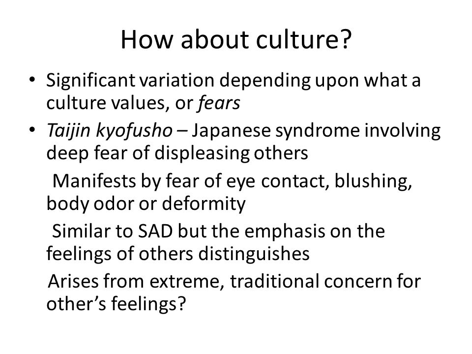 How about culture.