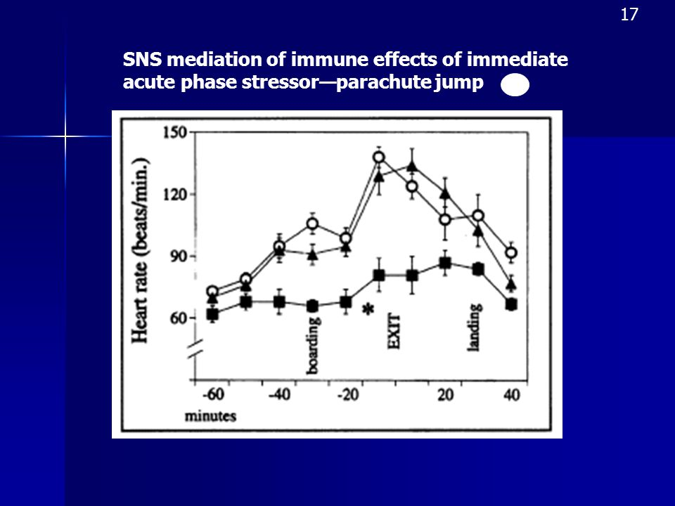 SNS mediation of immune effects of immediate acute phase stressor—parachute jump 17