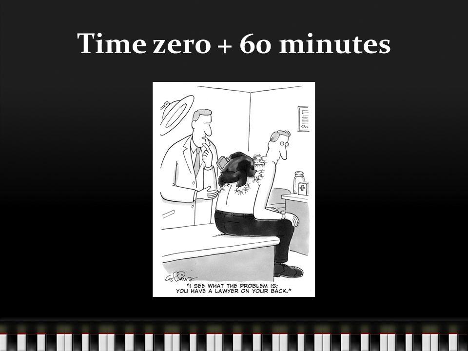 Time zero + 60 minutes
