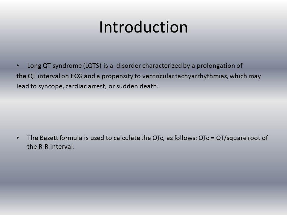 Summary -Prevalence -Types -Drugs -ECG